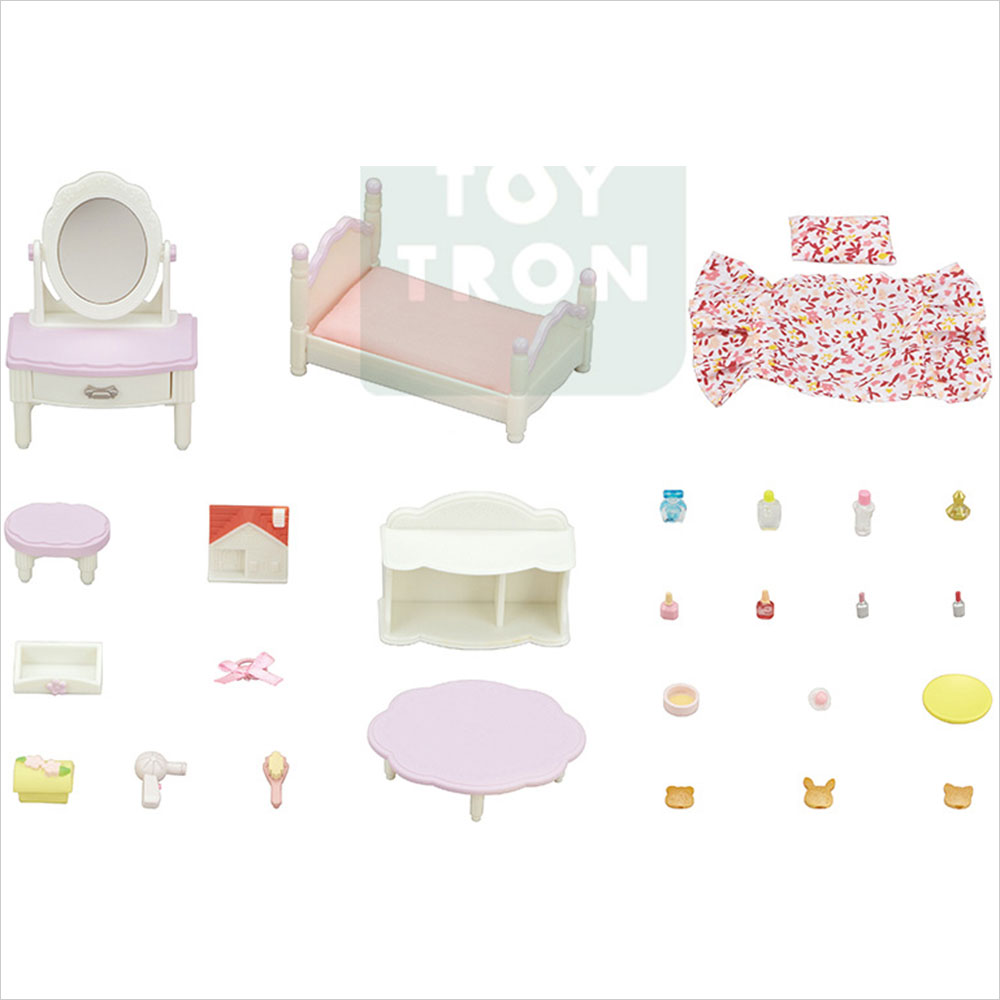[실바니안패밀리] 소녀방 침대와 화장대세트 5285