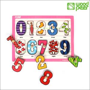 [우드피아] 손잡이퍼즐 - 숫자
